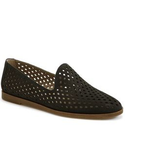 Franco Sarto perforated loafer black flat size 7.5